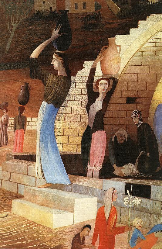CSONTVARY KOSZTKA Tivadar Mary s Well at Nazareth detail 2