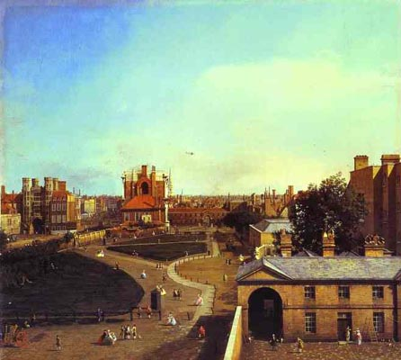 Canaletto London Whitehall and the Privy Garden from Richmond House