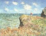 Cliffwalk at Pourville - Claude Monet