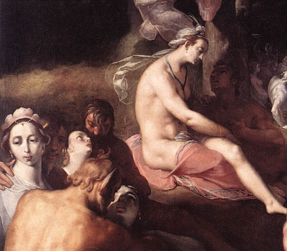 Cornelis Van Haarlem The Wedding of Peleus and Thetis detail