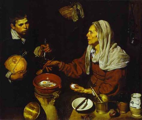 Diego Velazquez Old Woman Frying Eggs