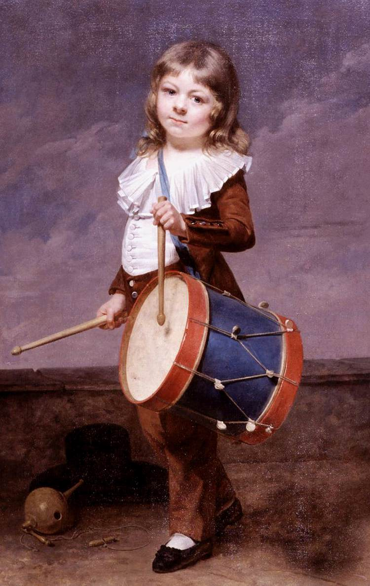 Drolling Martin Portrait of the Artist s Son as a Drummer