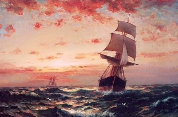 Edward Moran Ships at Sea