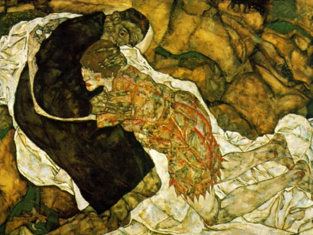Egon Schiele Death and Girl