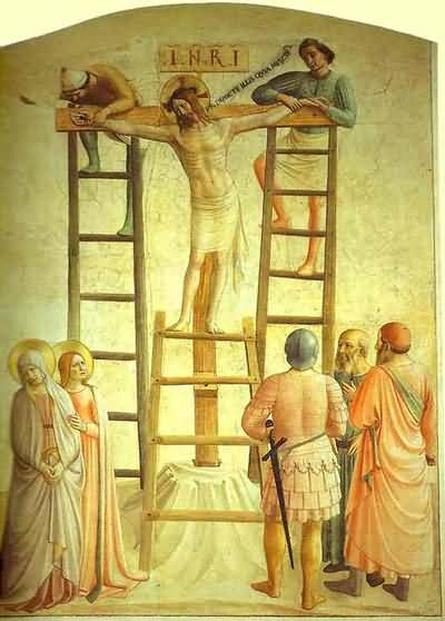 Fra Angelico Christ Being Nailed to the Cross