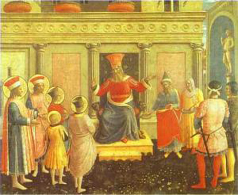 Fra Angelico San Marco Altarpiece Cosmas and Damian before Lyc