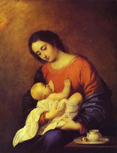 Francisco de Zurbaran The Virgin with Infant Christ