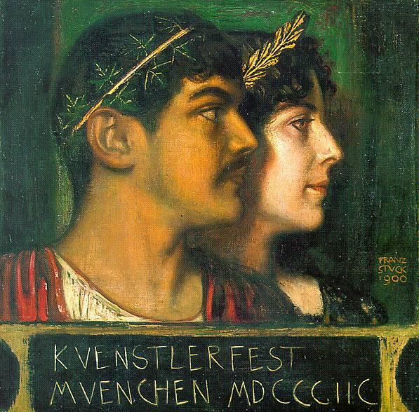 Franz von Stuck Franz and Mary Stuck as a God and Goddess 1900