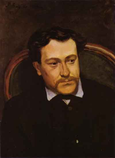 Frederic Bazille Portrait of edouard Blau