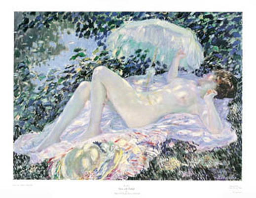 Frederick Carl Frieseke Venus in the Sunlight