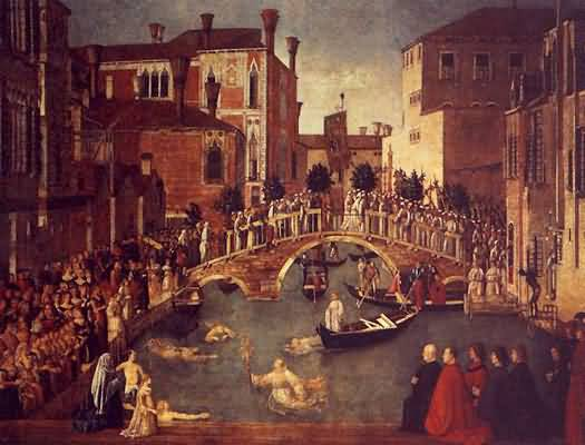 Gentile Bellini The Recovery of the Relic of the True Cross at the