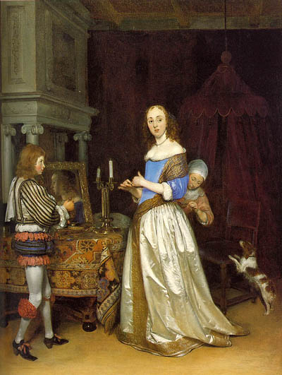 Gerard Ter Borch Lady at her Toilette