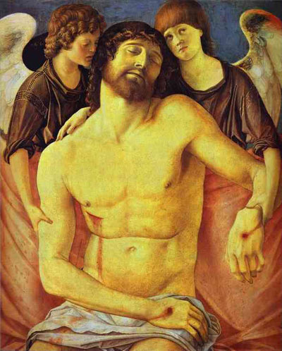 Giovanni Bellini Dead Christ Supported by Two Angels