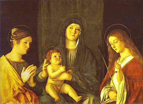Giovanni Bellini Madonna and Child between SS. Catherine and Ursula