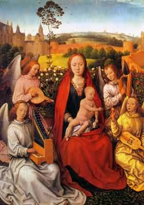 Hans Memling Mary in the Rose Bower