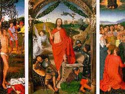 Hans Memling The Resurrection with the Martyrdom o