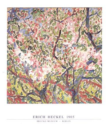 Heckel Erich Bluehende Zweige 1905