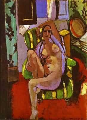 Henri Matisse Nude Sitting in an Armchair