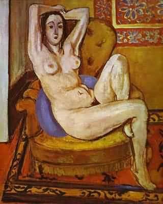 Henri Matisse Nude on a Blue Cushion