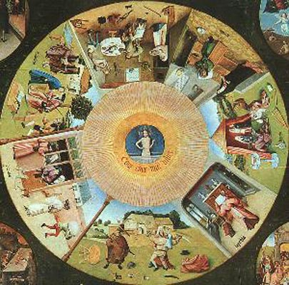 Hieronymous Bosch Tabletop of the Seven Deadly Sins and the Four Las