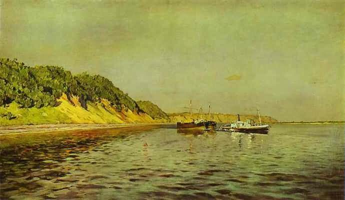 Isaac Levitan The Volga A Calm Day
