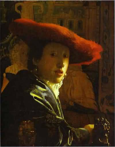 Jan Vermeer The Girl With The Red Hat