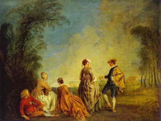 Jean Antoine Watteau An Embarrassing Proposal