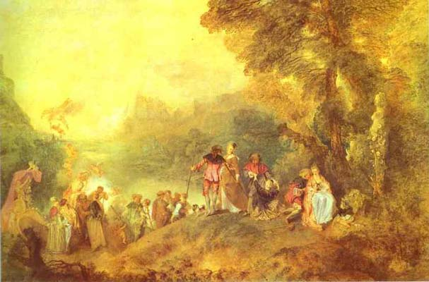 Jean Antoine Watteau Embarkation for Cythera or The Pilgrimage to Cythera
