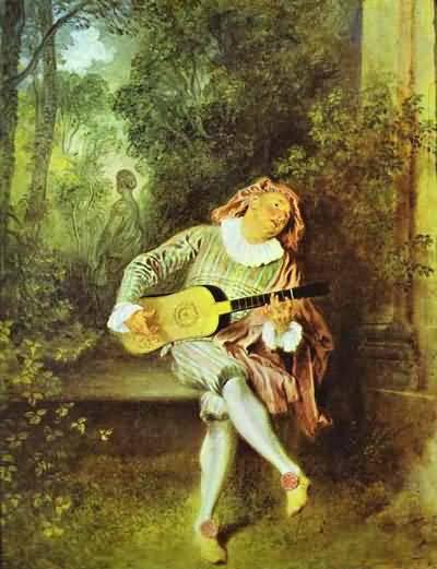 Jean Antoine Watteau Mezzetin