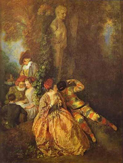 Jean Antoine Watteau Voulez vous triompher des belles