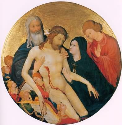 Jean Malouel Lamentation for Christ La Grande Pieta Ronde