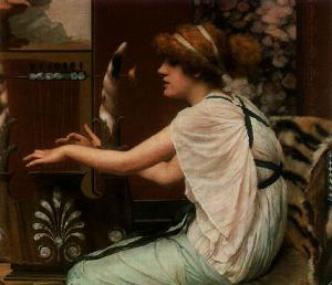 John William Godward Muse And Lyre
