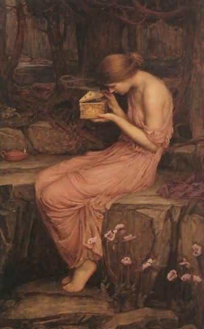 John William Waterhouse Psyche Opening the Golden Box