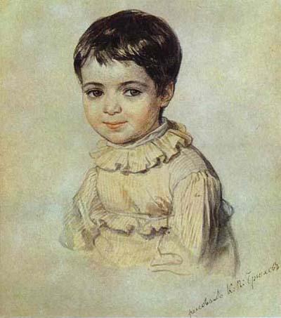 Karl Brulloff Portrait of Maria Kikina as a Child.