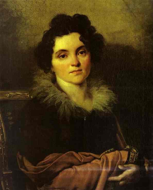 Kiprensky Orest Portrait of D N Khvostova