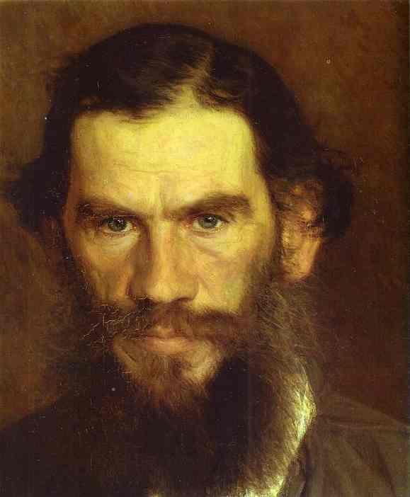 Kramskoy Ivan Portrait of Leo Tolstoy Detail