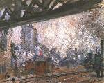 La Gare Sainte - Lazare, Outside View - Claude Monet