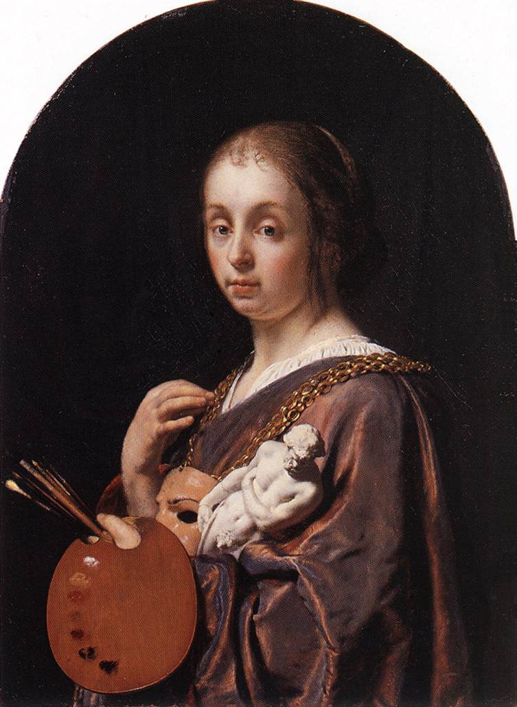 MIERIS Frans van the Elder Pictura An Allegory of Painting