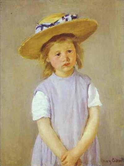 Mary Cassatt Child in a Straw Hat