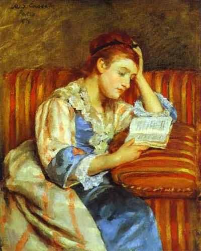 Mary Cassatt Young Woman Reading
