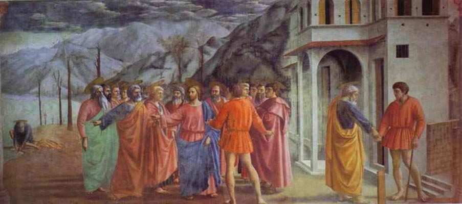 Masaccio Rendering of the Tribute Money detail