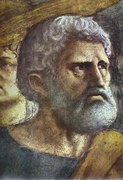 Masaccio The Tribute Money detail
