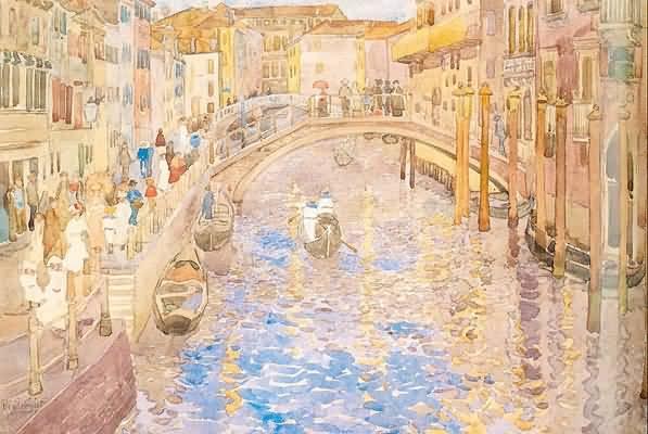 Maurice Prendergast Venetian Canal Scene