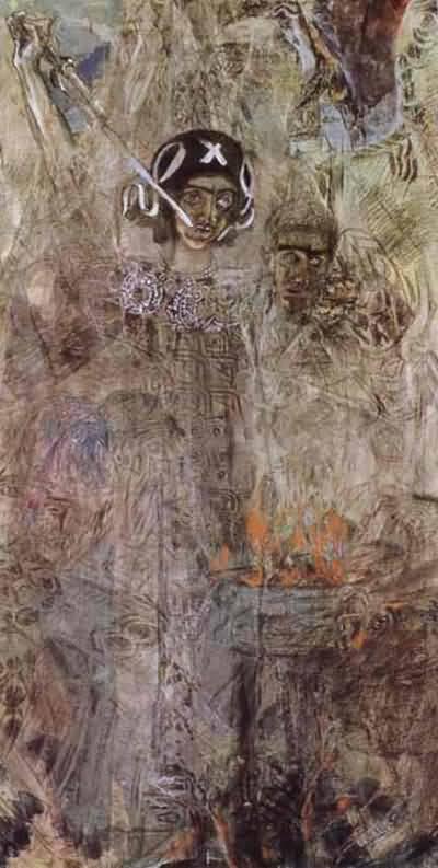Mikhail Vrubel The Vision of the Prophet Ezekiel