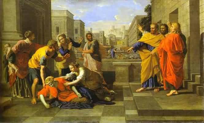 Nicolas Poussin The Death of Sapphira