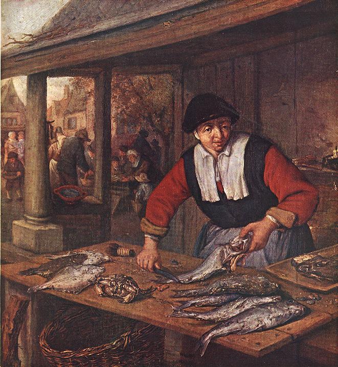 OSTADE Adriaen Jansz van The Fishwife