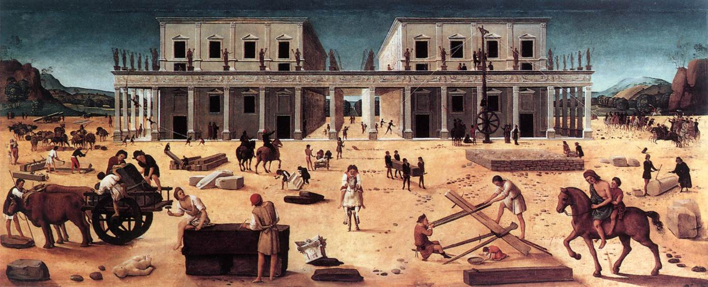 PIERO DI COSIMO The Building of a Palace