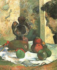 Paul Gauguin Still Life with Profile of Charles Leval