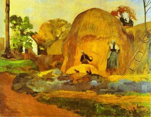 Paul Gauguin Yellow Hay Ricks Fair Harvest