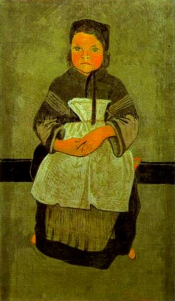Paul Serusier Little Breton Girl Seated Portrait of Marie Francisaille